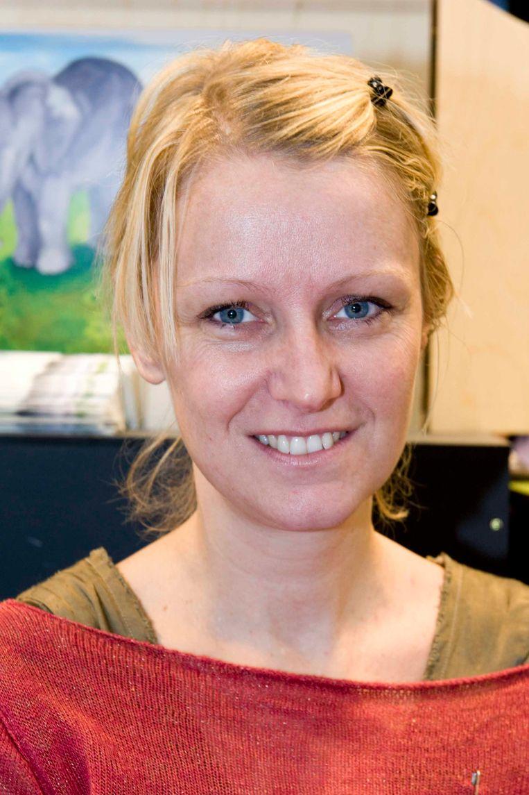 Schrijfster Tine Mortier op de Boekenbeurs van 2017.  Beeld RV/Boekenbeurs