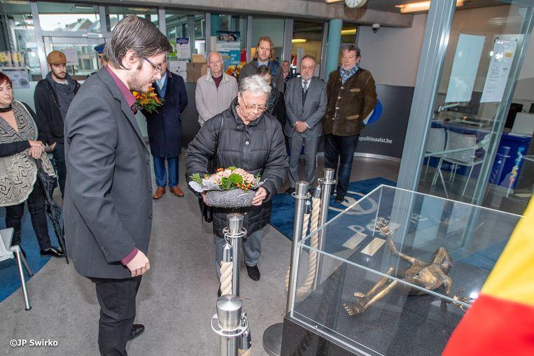 De herdenking van de twee vermoorde politiemannen in Aalst.