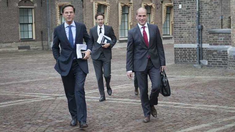 VVD-leider Mark Rutte en PvdA-leider Diederik Samsom. Beeld anp