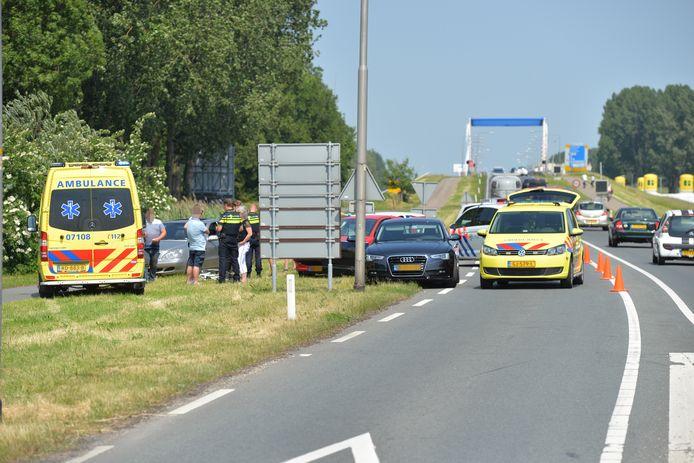 Bij het ongeluk in Nijkerk raakte een bestuurder gewond.