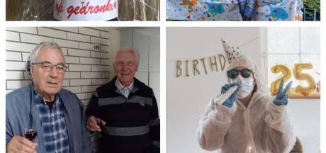Zo vieren Tukkers hun verjaardag in de gedeeltelijke lockdown: proosten via de app en een felicitatiestoet