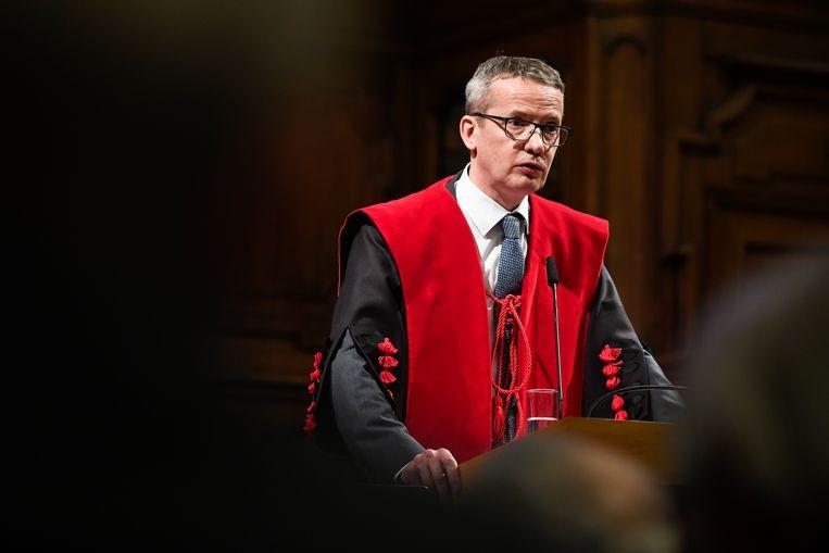 Rector Luc Sels van de KU Leuven: 'Transparantie is cruciaal, de vrees voor imagoschade mag dit niet in de weg staan.' Beeld BELGA