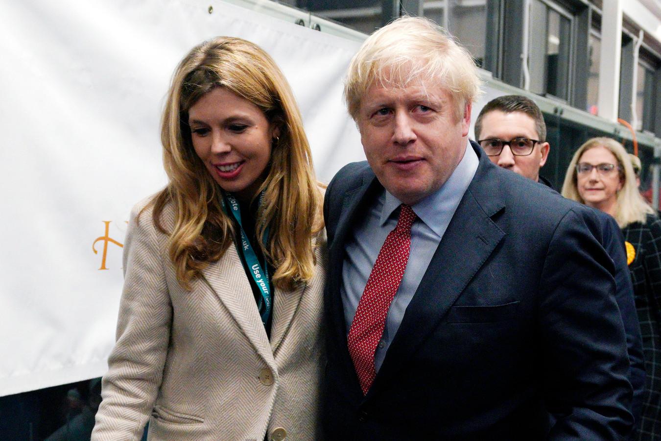 Carrie Symonds en Boris Johnson.