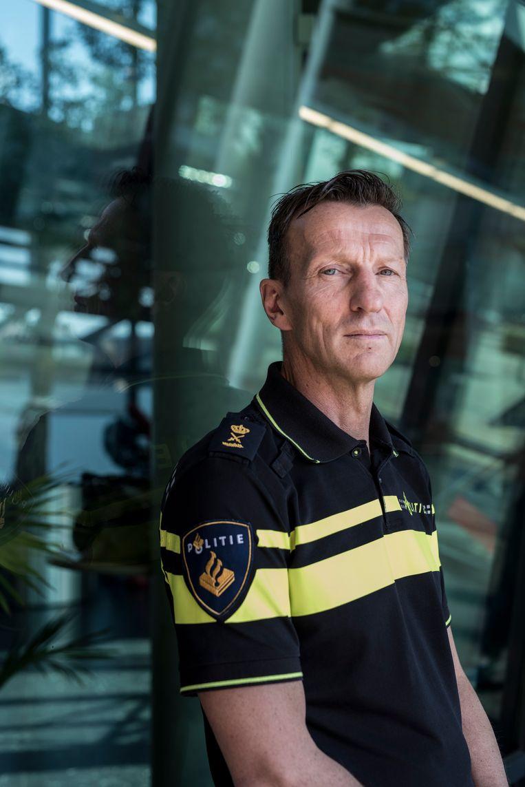 Wilbert Paulissen: 'Ik werk al veertig jaar bij de politie. Ik zie de schietbaan als een noodzakelijk kwaad.' Beeld Linelle Deunk