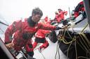 Michiel Goegebeur aan het werk tijdens de proloog van The Ocean Race Europe.