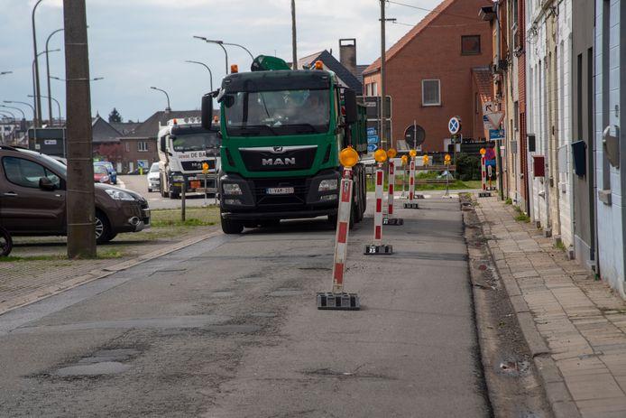 Werken Serskampsteenweg.