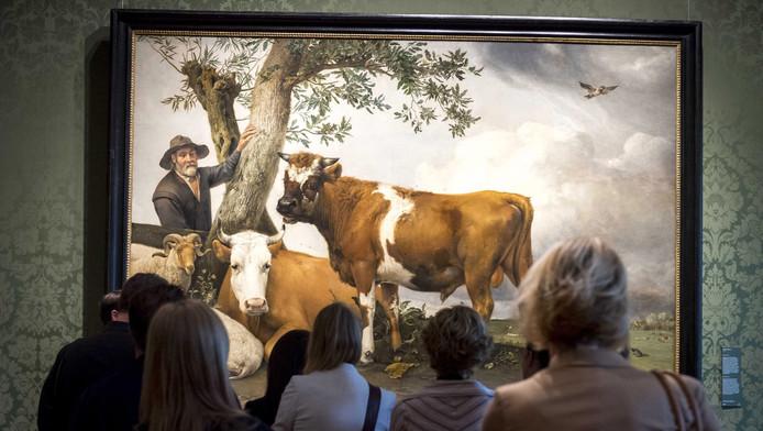 De stier van Paulus Potter, te zien in het Mauritshuis.