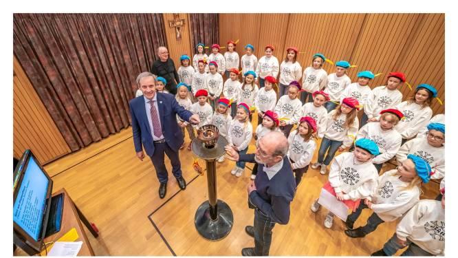 Kinderkoor Mozaïek houdt koorvlammoment in aanloop naar World Choir Games