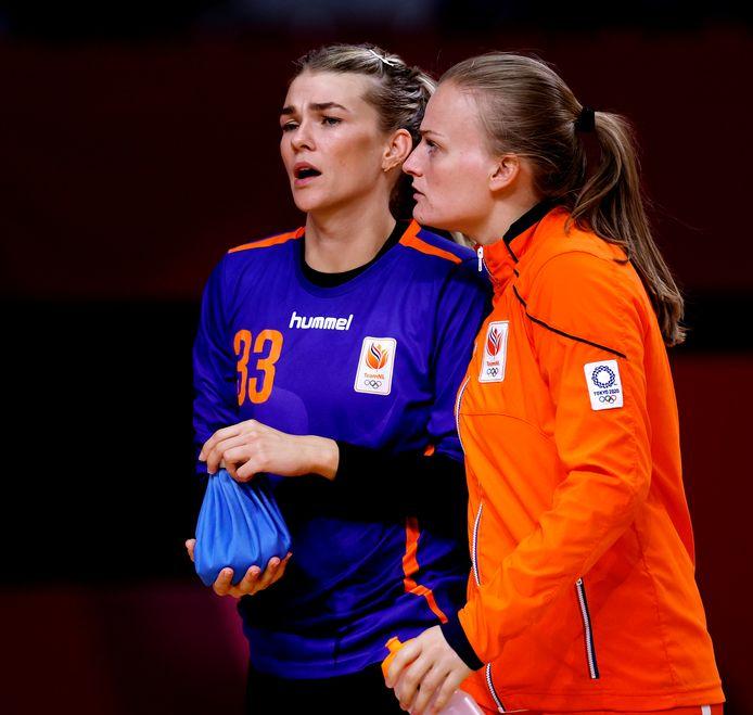 Tess Wester, doelvrouw bij de handbalsters.
