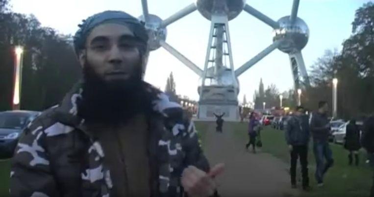 Fouad Belkacem in een video voor het Atomium. Beeld BST