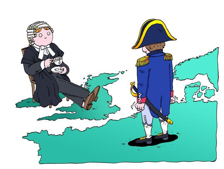 'Napoleon slaagde er niet in Groot-Brittannië te veroveren en Hitler evenmin.' Beeld Sven Franzen