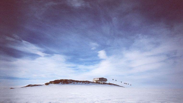 De Prinses Elisabeth-basis op Antarctica Beeld belga