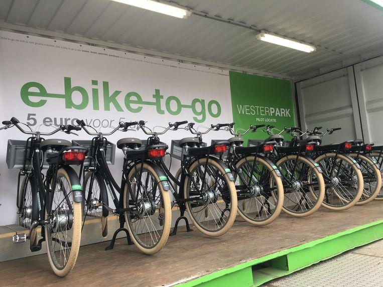 De eerste locatie in het Westerpark. Beeld E-bike to go