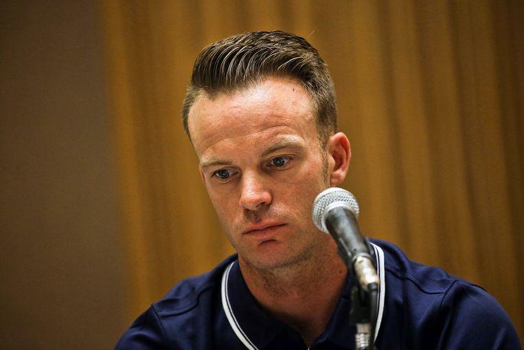 Iljo Keisse bood publiekelijk zijn excuses aan, maar is nu toch uit de Ronde van San Juan gezet. Beeld Photo News