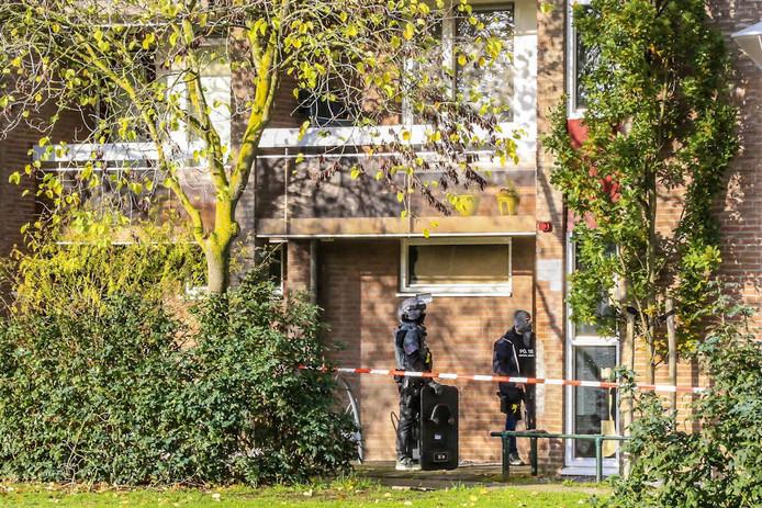 Aanhouding door een arrestatieteam in Helmond.