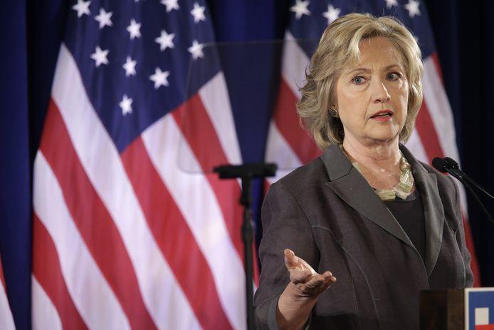 De Democratische presidentskandidate Hillary Clinton.