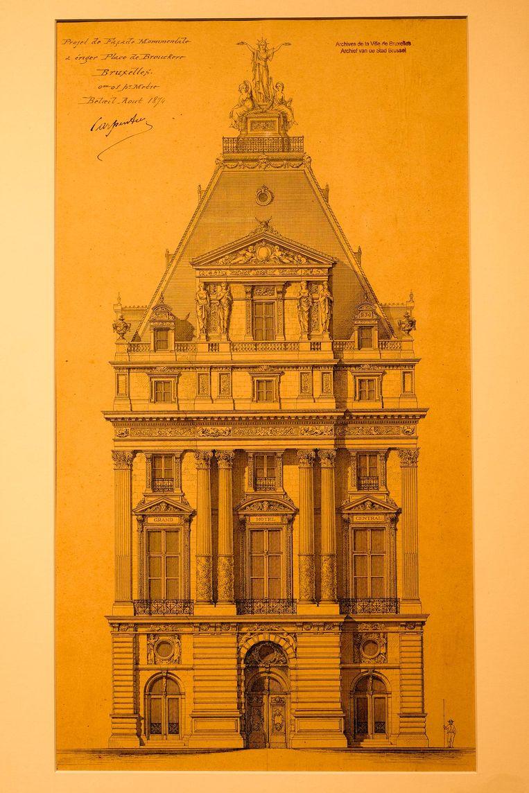Zoek de verschillen: het voormalige Hotel Continental op het Brouckèreplein in de 19de eeuw en vandaag.