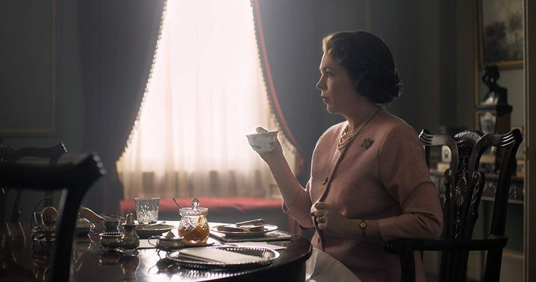 Olivia in Colman in The Crown (seizoen 3) Beeld