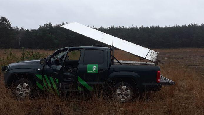 Staatsbosbeheer heeft de monoliet verplaatst naar de uitkijktoren op het Kootwijkerzand.