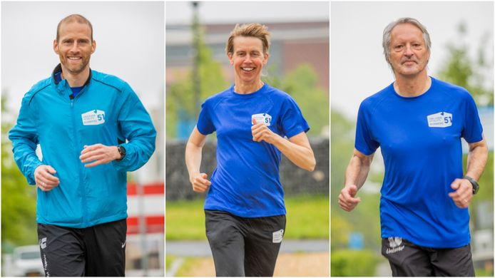 Vlnr: Jos de Laat, Jolanda Langendoen en René Alblas van het Unilever Vitality Runners team.