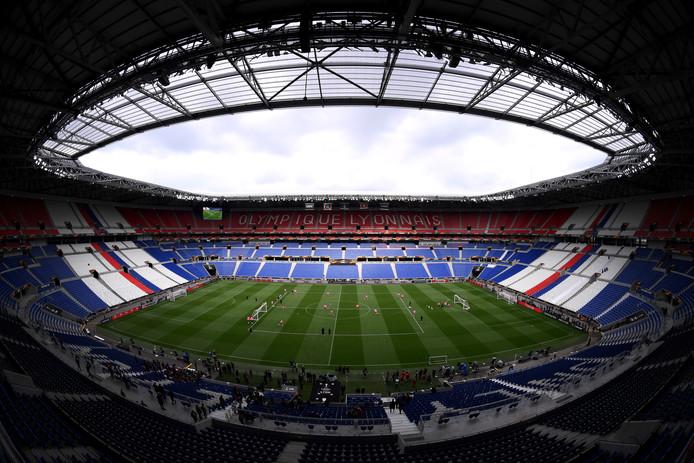 Het stadion in Lyon waar de Europa League-finale vanavond plaatsvindt.