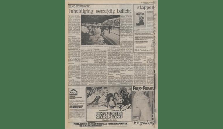 Boze reacties op de Volkskrant-verslaggeving van de inhuldiging, in de krant van 6 mei 1980. Beeld