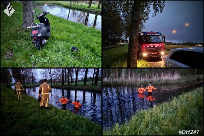 Een scooter in het water zorgde even voor paniek gisteravond in Zoetermeer.