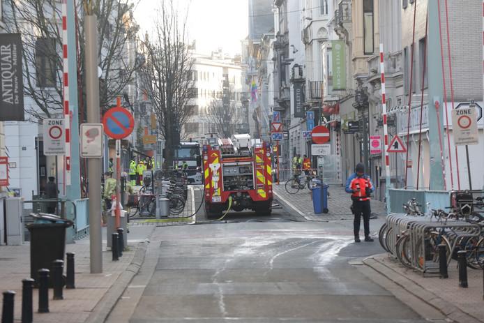 Een deel van het stadscentrum is afgesloten na een melding van gasgeur.