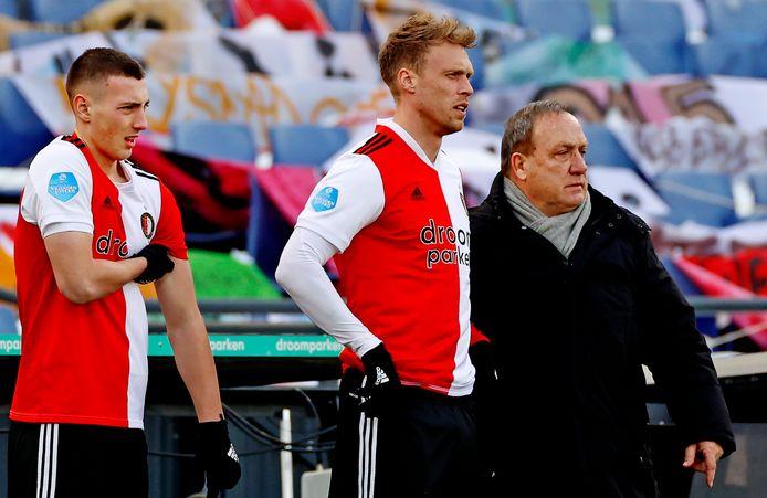 Róbert Bozeník, Nicolai Jørgensen en Dick Advocaat.