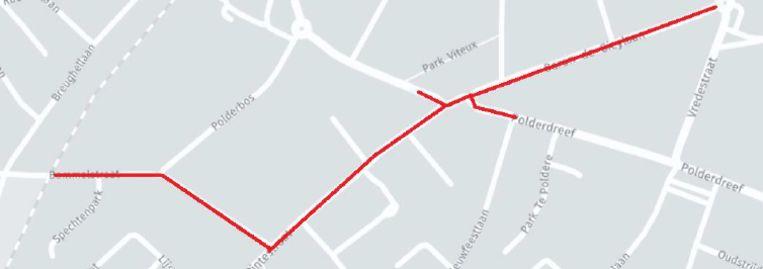 In deze straten in het centrum van De Pinte worden fietssuggestiestroken aangebracht.