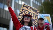Protesten tegen Trump op vrouwendag