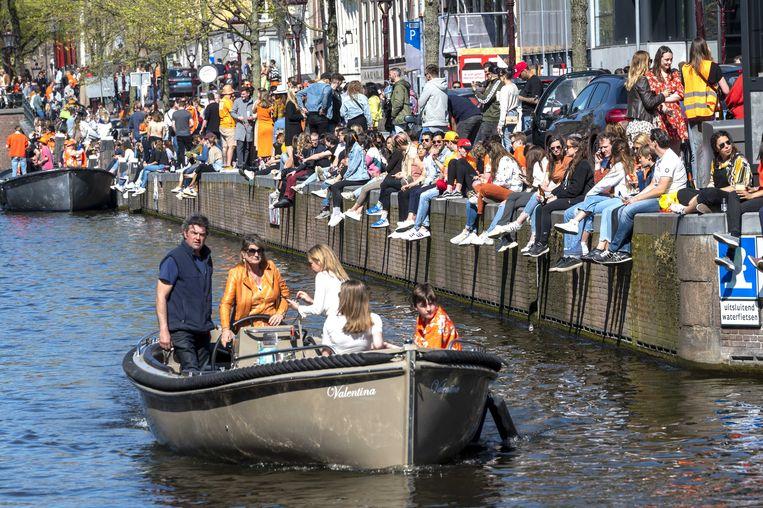 Koningsdag 2021 in Amsterdam.  Beeld ANP