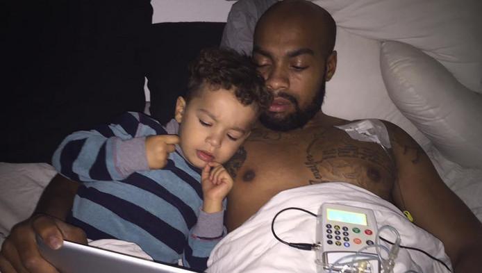Jermaine en zijn zoontje