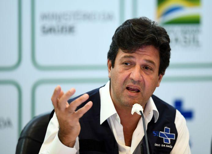 De vandaag ontslagen Braziliaanse minister van Gezondheid Luiz Henrique Mandetta.