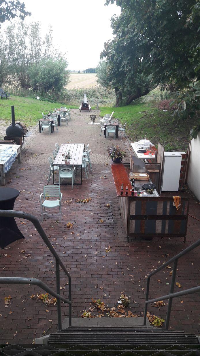Pieter Korteweg heeft deze zomer op deze plek veel etentjes voor gezelschappen gegeven.