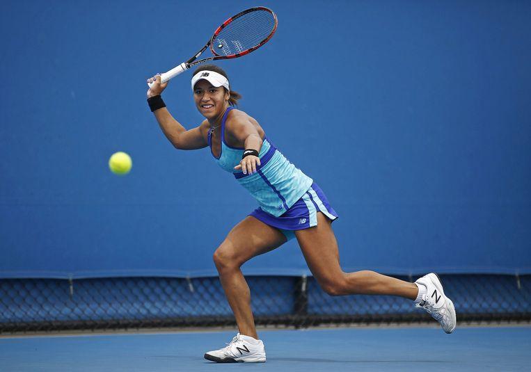 Heather Watson in de eerste ronde van de Australian Open 2015. Beeld reuters