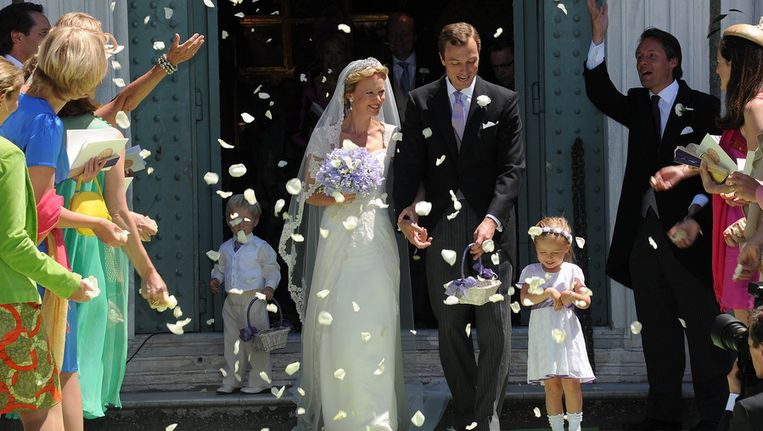 Prinses Carolina en haar man Albert Brenninkmeijer Beeld getty