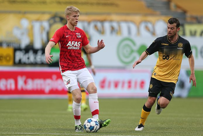 Tijs Velthuis en Erik Falkenburg van Roda JC.