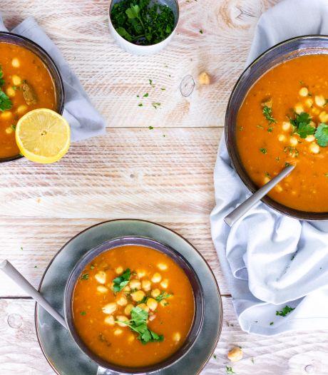 Wat Eten We Vandaag: Marokkaanse soep met linzen en kikkererwten