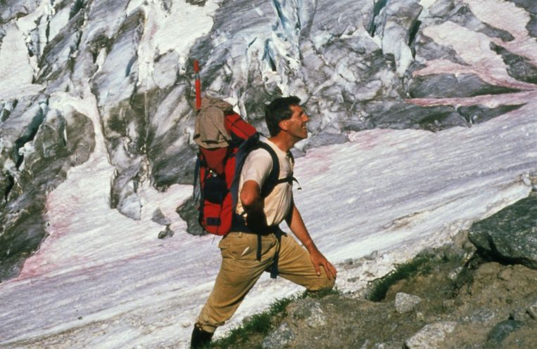 Tijdens een tocht naar de top van de Mont Blanc in 1988. Beeld Privécollectie