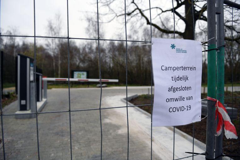 Het camperterrein in het provinciedomein is gesloten tot nader order.
