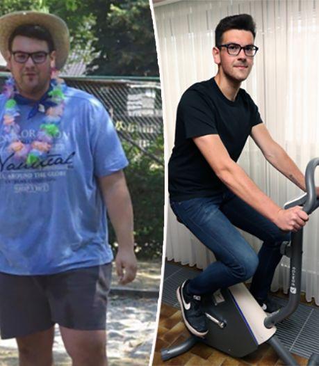 Thomas (20) valt 60 kilo af in minder dan een jaar: 'Ik hoop anderen te inspireren om hetzelfde te doen'
