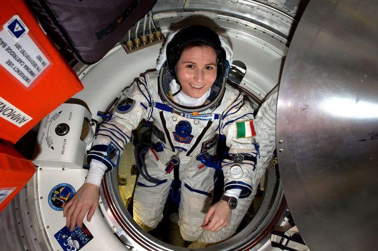 De Italiaanse astronaut Samantha Cristoforetti. Beeld AFP