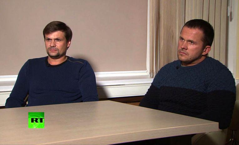 Alexander Petrov en Ruslan Boshirov  verklaarden aan de Russische staatzender RT gewone toeristen te zijn. Ze waren in Salisbury voor een bezoek aan de Anglicaanse kathedraal, althans zo stellen ze het zelf.