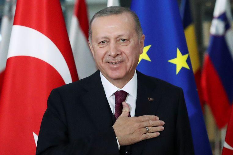 De Turkse president Erdogan. Beeld REUTERS