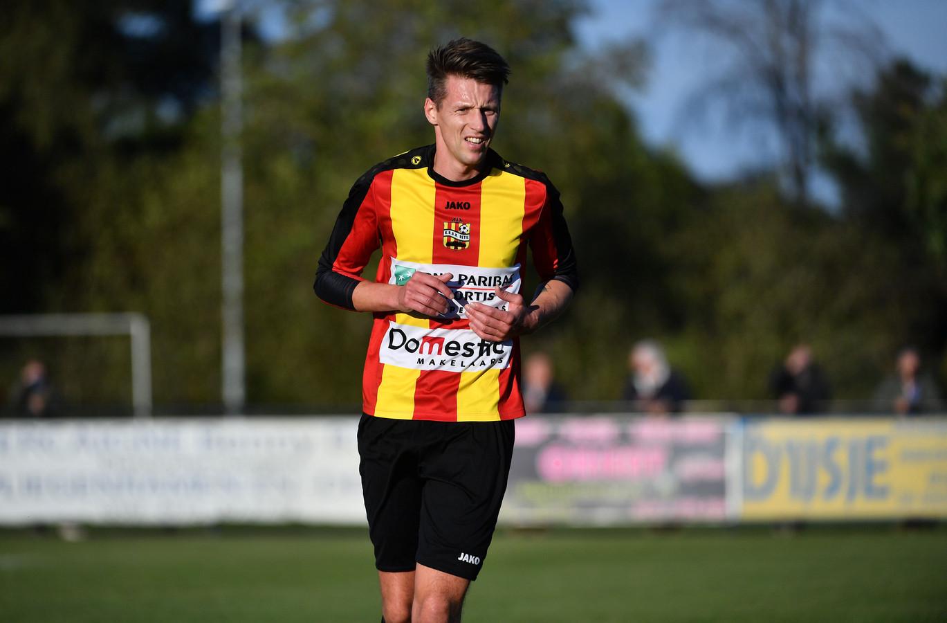 Kenny Geudens in de kleuren van Retie, waar hij gemiddeld één keer per wedstrijd scoorde.
