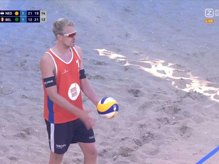 Nederlandse beachvolleyballers winnen eerste wedstrijd van België