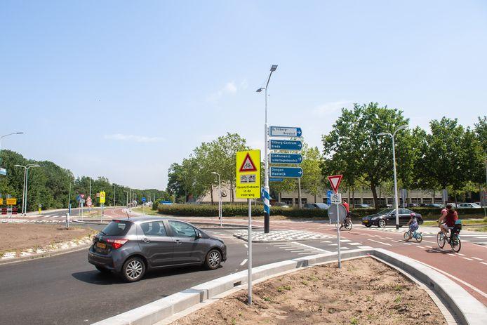 Het gedeelte van de snelfietsroute door de Reeshof is al gereed.
