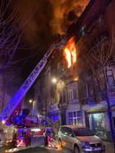 Incendie à la rue du Compas à Anderlecht.