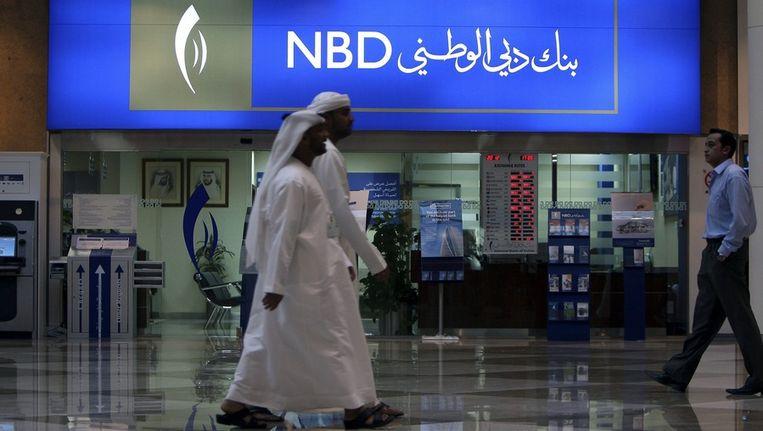 Een filiaal van de National Bank of Dubai Beeld EPA